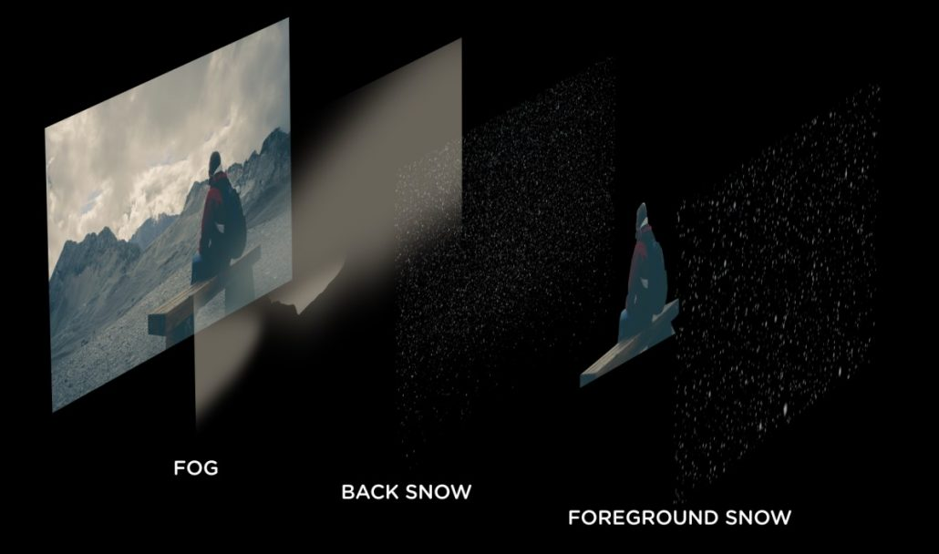 How to composite snow VFX into your video tutorial
