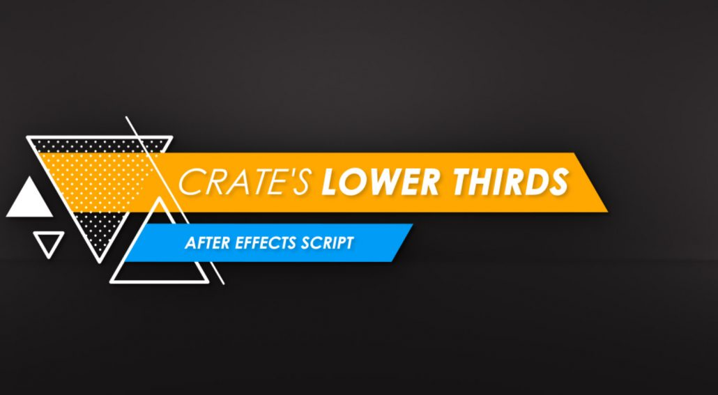 Download Crate's Lower Thirds After Effects Script