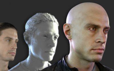 Create a Realistic 3D Head Model