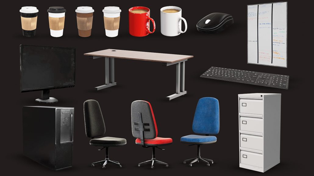 Download Photorealistic 3D Office Models