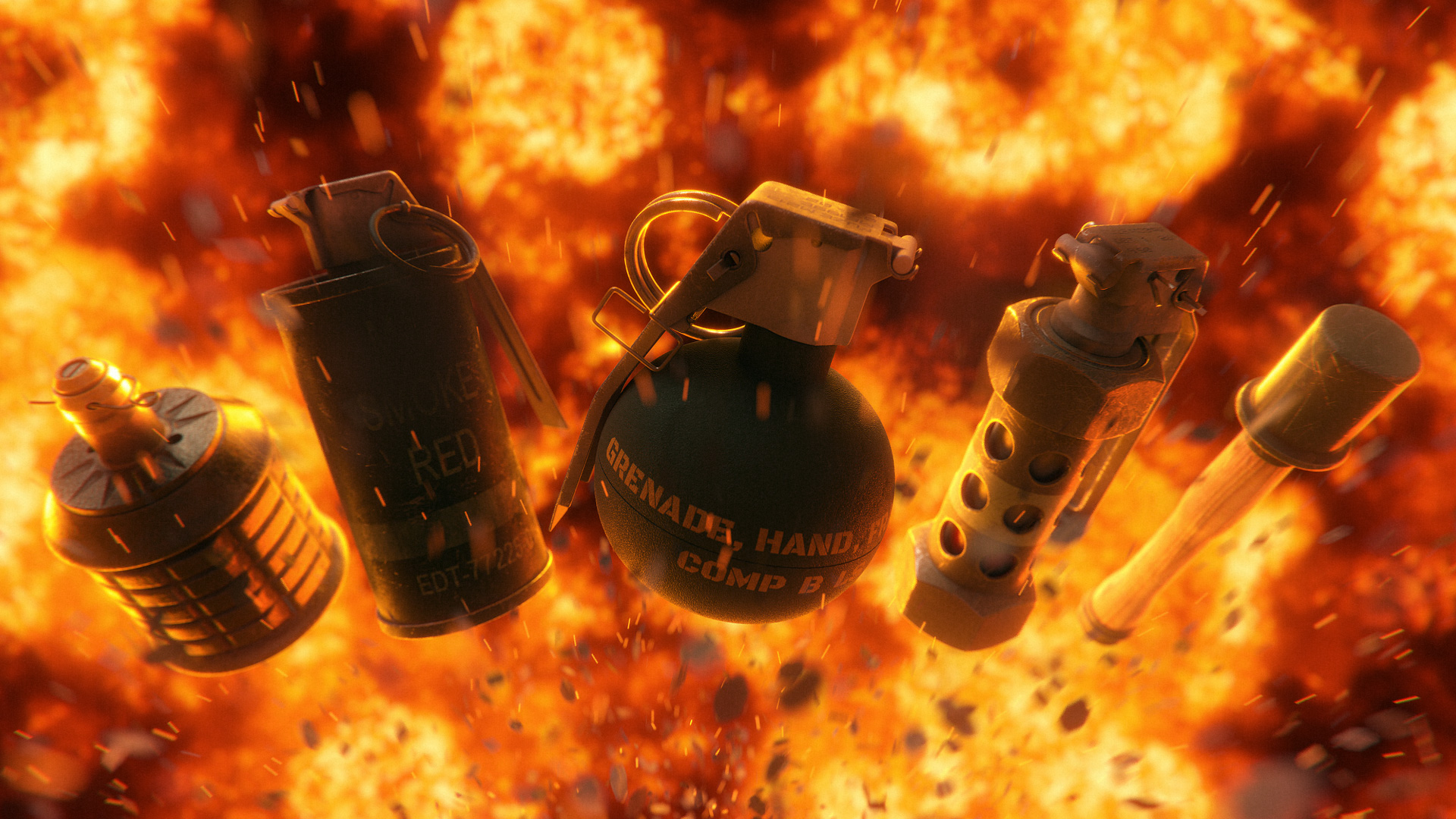 Download Photorealistic 3D Grenade Models